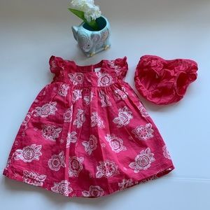 Gymboree 3-6 M Cotton Lined Dress w/pantaloons